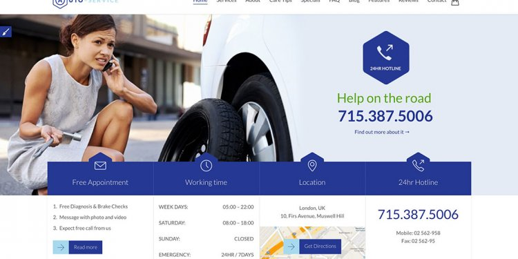 Auto Service Wordpress Themes