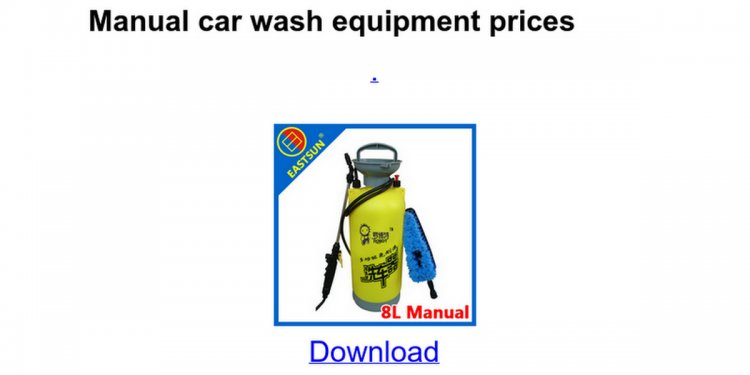 Manual car wash equipment