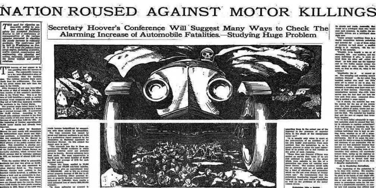 Top: A photo of a fatal car