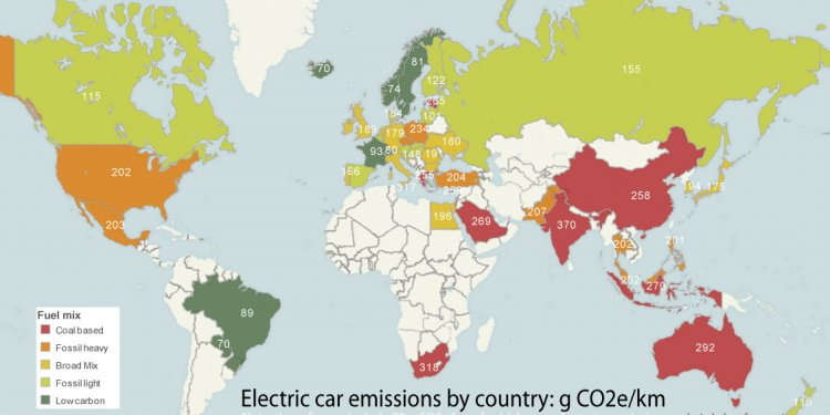 Mapping electric car emissions