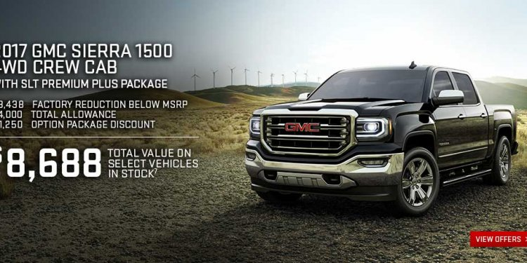 View offers on the 2017 GMC