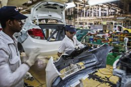 A file image of a Honda plant in better Noida. If Honda chooses to build its 3rd automobile plant in Gujarat, the company will become the 2nd biggest Japanese car manufacturer in Asia by ability. Photo: Bloomberg