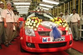 A Maruti Suzuki Swift on the production range