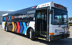 Metro ArlingtonXpress transport coach