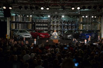 President Obama talks within Ford Michigan Assembly Plant