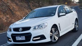 The Holden VF Commodore SS sedan.