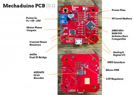The Mechaduino PCB drawing.