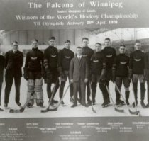 The Winnipeg Falcons would be the gold medal winners during the very first Olympic hockey game